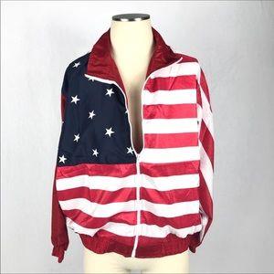 Vintage American flag windbreaker